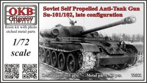 1/72 Soviet Self Propelled Anti-Tank Gun Su-101/102, late configuration
