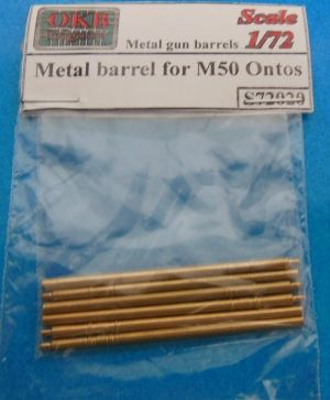 1/72 Metal barrel for M50 Ontos