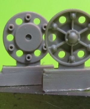 1/72 Sprocket wheel for T-34,mod.1942-43