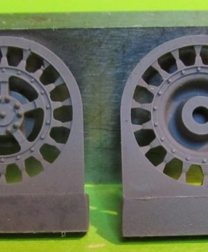 1/72 Sprockets for Tiger II,Jagtiger,E50,E75,Lowe, 18 tooth type 1