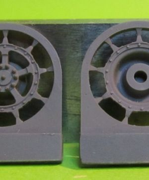 1/72 Sprockets for Tiger II,Jagtiger,E50,E75,Lowe, 9 tooth type 2
