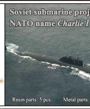 1/700 Soviet submarine project 670 Skat (NATO name Charlie I)