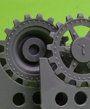 1/48 Sprockets for Pz.V Panther, 17 tooth type 4