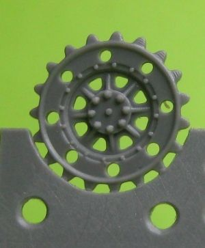 1/72 Sprockets for Pz.38, early Hetzer