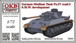 1/72 German Medium Tank Pz.IV Ausf.J, 9./B.W. development