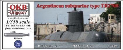 1/350 Argentinean submarine type TR1700