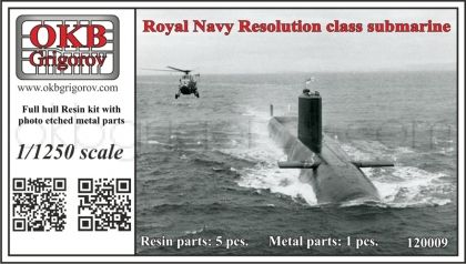 1/1250 Royal Navy Resolution class submarine