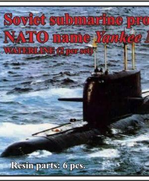 Soviet submarine project 667 AT Grusha (NATO name Yankee Notch),WATERLINE, (2 per set)