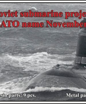 1/700 Soviet submarine project 627A Kit (NATO name November)