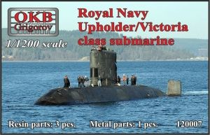 1/1200 Royal Navy Upholder/Victoria class submarine