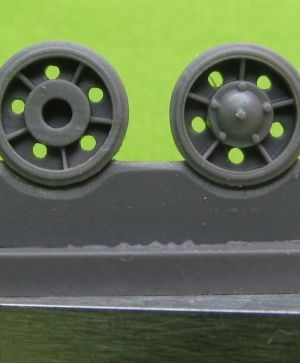 1/72 Idler wheel for T-34 mod.1940, with rubber bandage