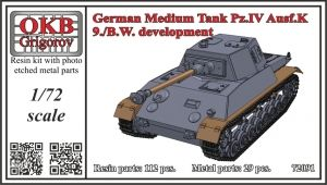1/72 German Medium Tank Pz.IV Ausf.K, 9./B.W. development