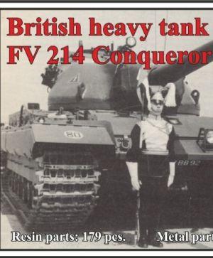 1/72 British heavy tank FV 214 Conqueror MK. II