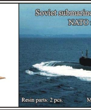 1/700 Soviet submarine project 661 Anchar (NATO name Papa)