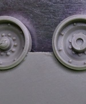 1/72 Wheels for M1 Abrams, late